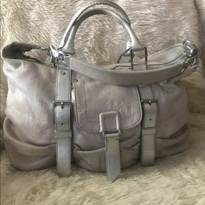 Beautiful Botkier shimmery cream leather handbag